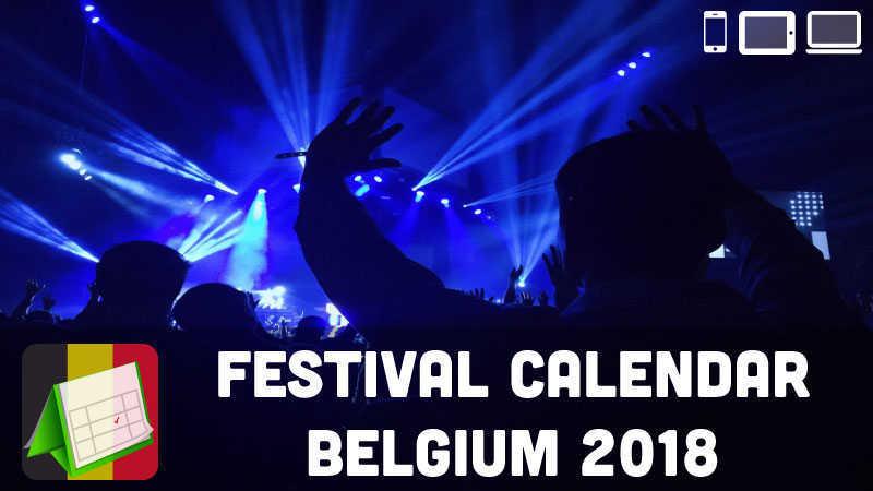 music festival calendar belgium 2018